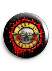 80's Metal Guns N' Roses Badge