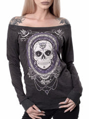 Hyraw 'Craneo' Womens F***ing Hostile Long Sleeve Reversible Tee