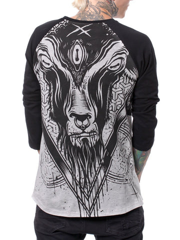 Hyraw 'Goat' Mens F***ing Hostile 3/4 Sleeve Tee