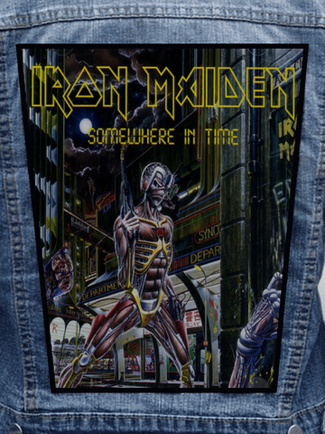 Iron Maiden - Somewhere In Time Metalworks Back Patch