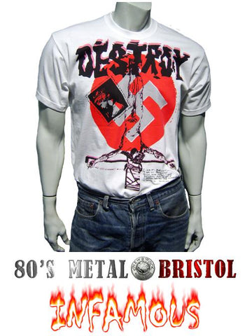 Punk Rock - Destroy Swastika T Shirt