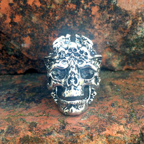 80's Metal Kali The Black Goddess Ring