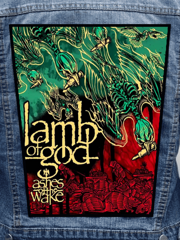 Lamb Of God - Ashes Of The Wake Metalworks Back Patch