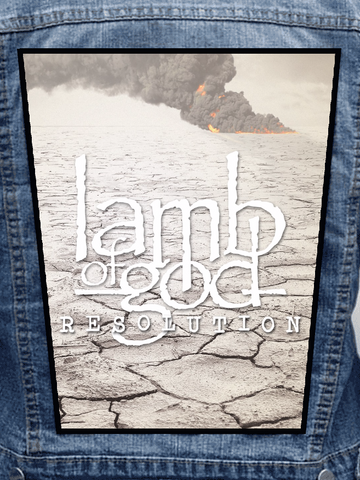 Lamb Of God - Resolution Metalworks Back Patch