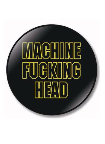 80's Metal Machine Head Badge