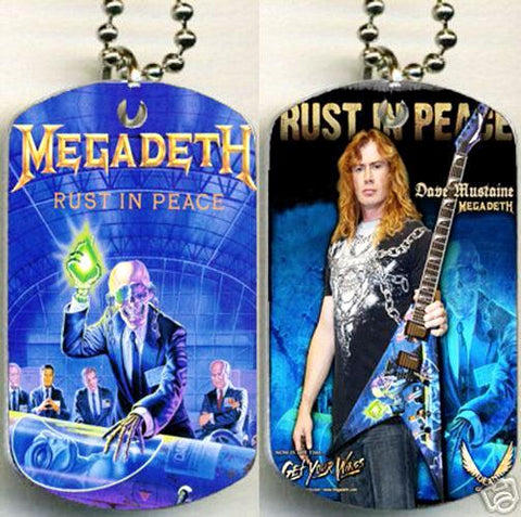 Megadeth - 'Rust In Peace' Metalworks Dog Tag.