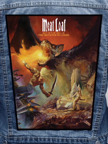 Meatloaf - The Monster Is Loose Metalworks Back Patch