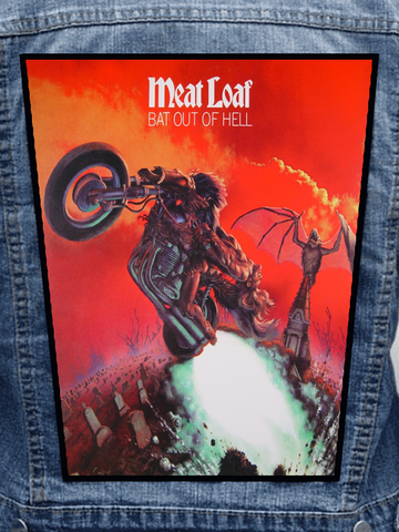 Meatloaf - Bat Out Of Hell Metalworks Back Patch