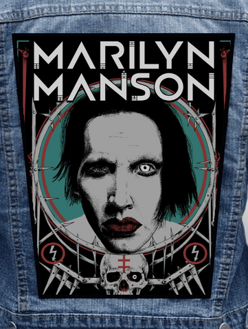 Marilyn Manson - White Eye Metalworks Back Patch