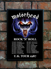 Motorhead 1987 'Rock 'N' Roll' UK Tour Poster