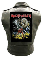 Metalworks Iron Maiden 'Number Of The Beast' Sleeveless Leather Jacket
