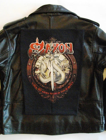 Metalworks Saxon ''Call To Arms' Leather Jacket