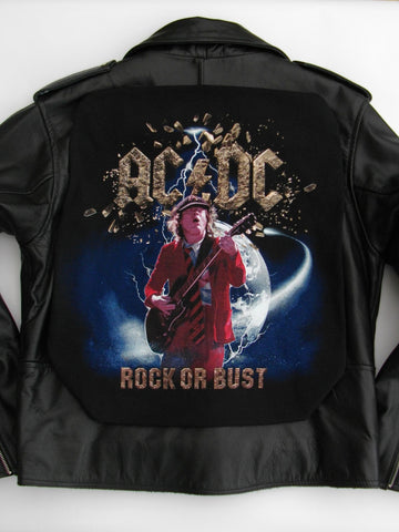Metalworks AC/DC 'Rock Or Bust' Leather Jacket
