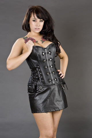 Rock Chick Matt, Shiny or Twill Black Basque