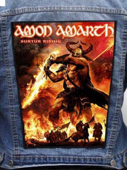 Amon Amarth - Surtur Rising Metalworks Back Patch