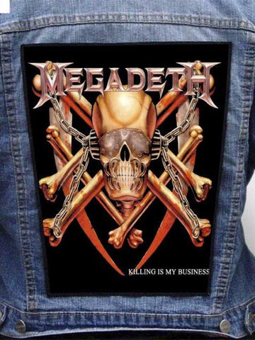 Megadeth  - Killing Is My Business Metalworks Back Patch