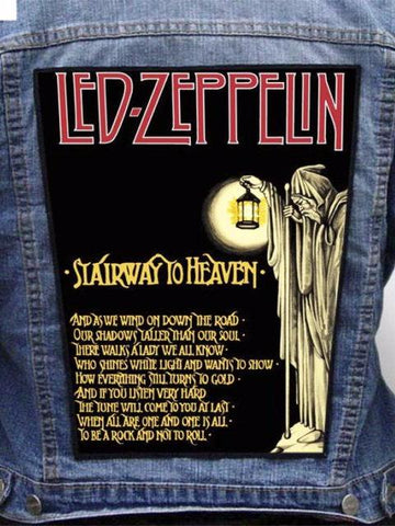 Led Zeppelin  - Stairway To Heaven Metalworks Back Patch