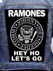 Ramones - Hey Ho Let's Go Metalworks Back Patch