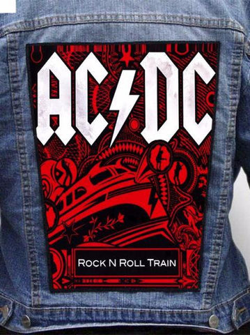 AC/DC - Rock N Roll Train Metalworks Back Patch