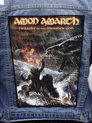 Amon Amarth - Twilight of the Thunder God Metalworks Back Patch