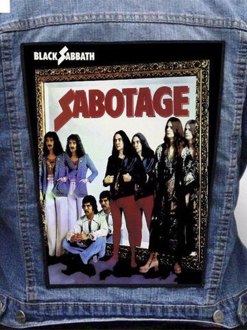 Black Sabbath  - Sabotage Metalworks Back Patch