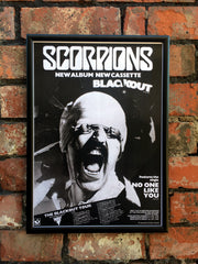 Scorpions 1982 'Blackout' UK Tour Poster