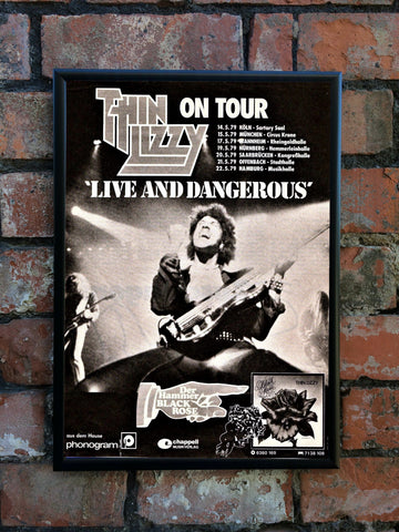 Thin Lizzy 1979 'Live And Dangerous' Tour Poster
