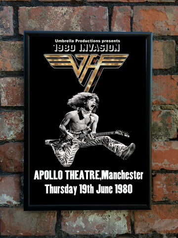 Van Halen 1980 'Invasion' UK Tour Poster