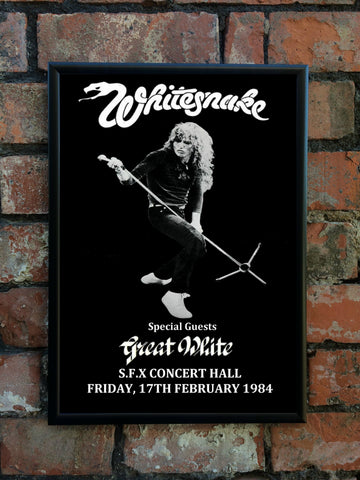 Whitesnake 1984 'Slide It In' Tour Poster