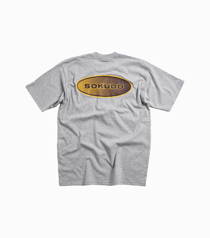 Sokudo Halftone T-shirt - Heather Grey