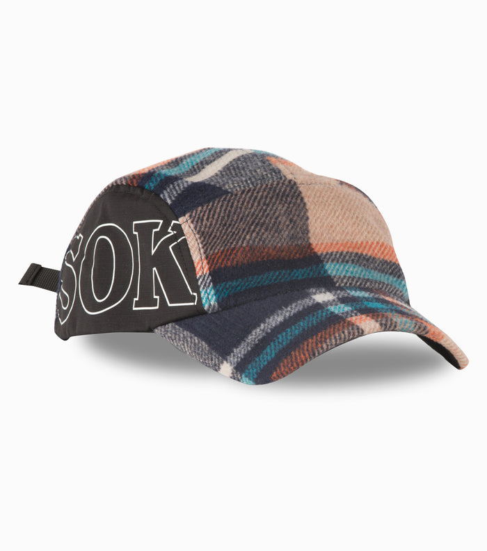 Sokudo 5 Panel Cap - Plaid