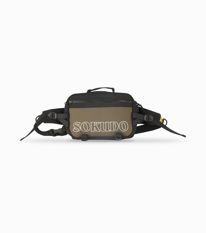 Sokudo Shoulder Bag - Black / Olive Drab