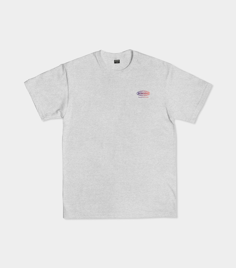 Sokudo Gradient short sleeve tshirt (Grey Marle)