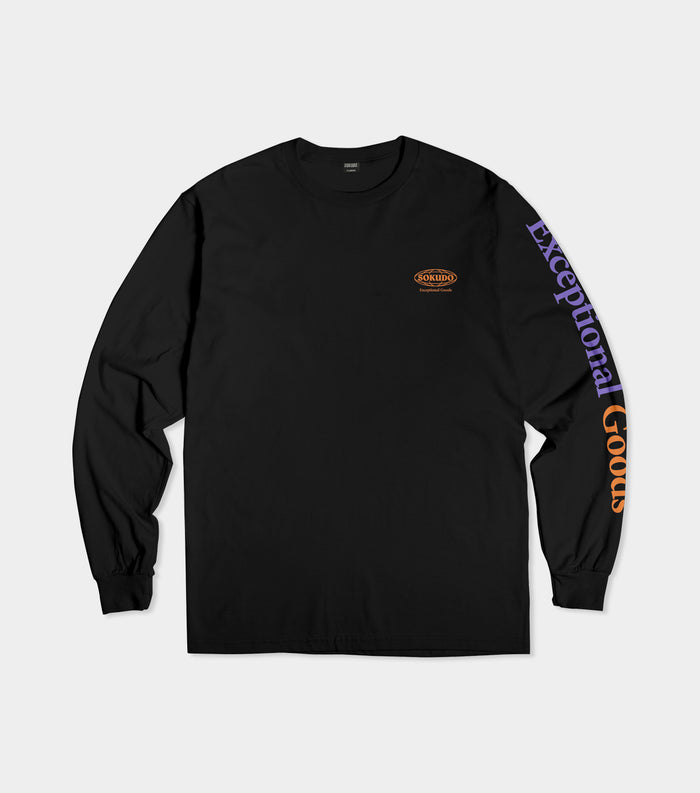 Sokudo Exceptional Goods long sleeve tshirt (Black)