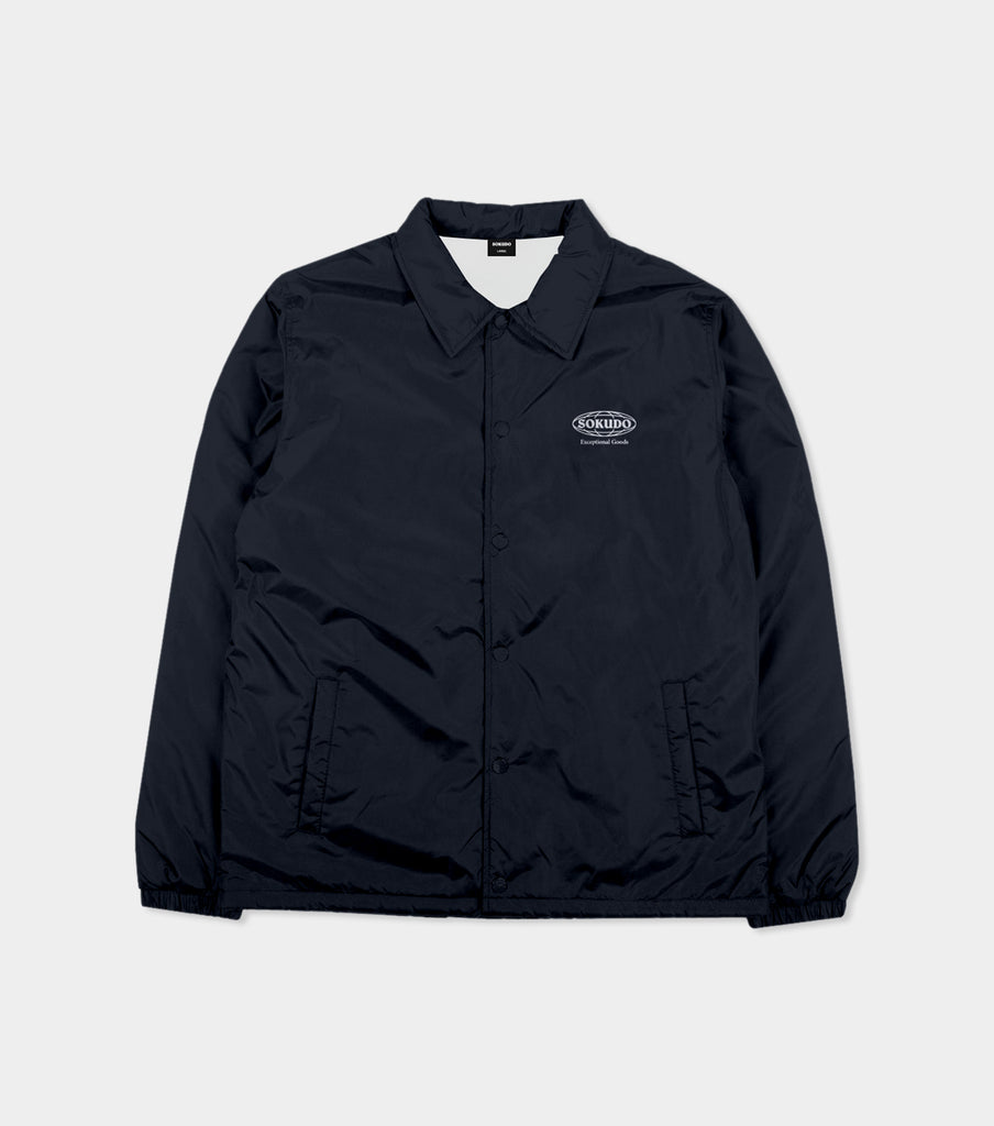Sokudo Globe coach jacket (Navy)