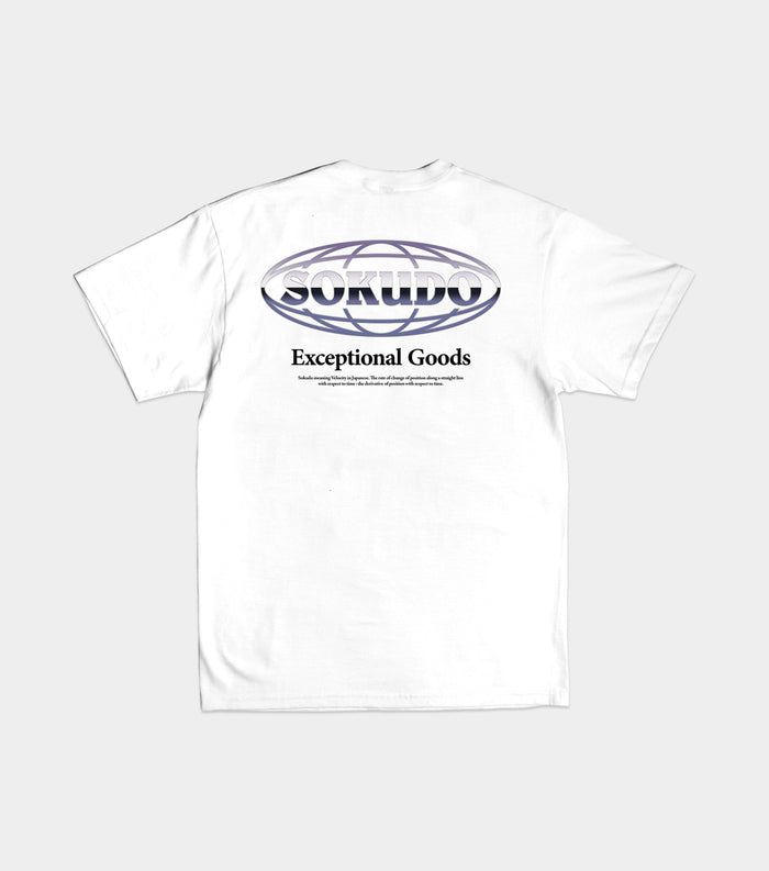 Sokudo Chrome tshirt (White)