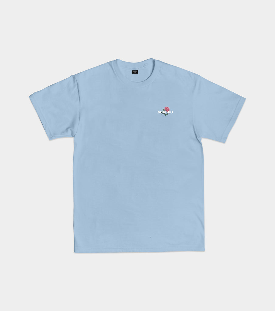 Sokudo Rose tshirt (Powder Blue)