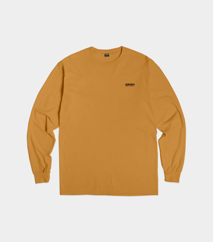 Sokudo Japan small logo long sleeve tshirt (Mustard)