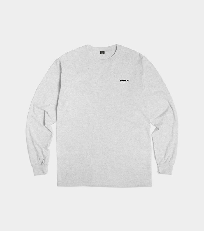Sokudo Japan small logo long sleeve tshirt (Grey)