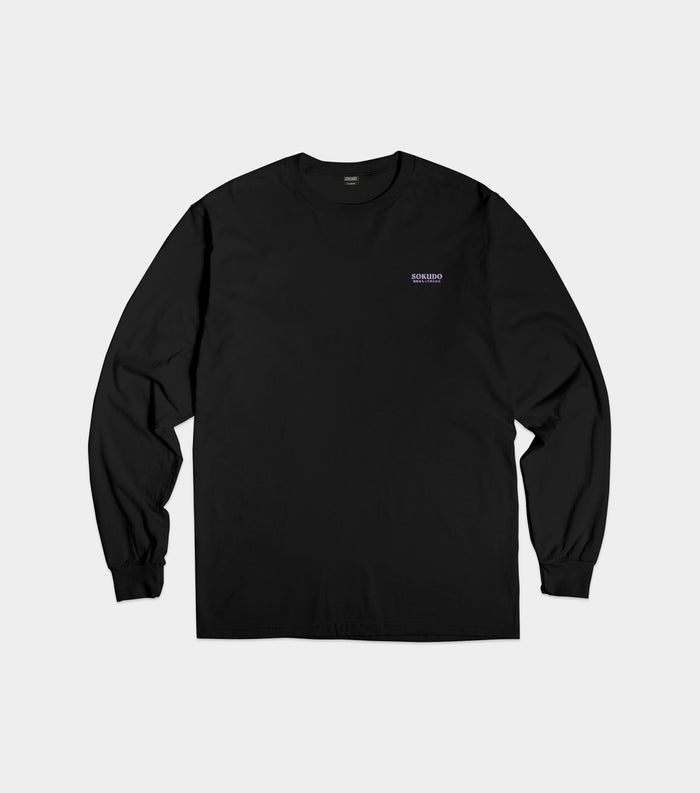Sokudo Japan small logo long sleeve tshirt (Black)