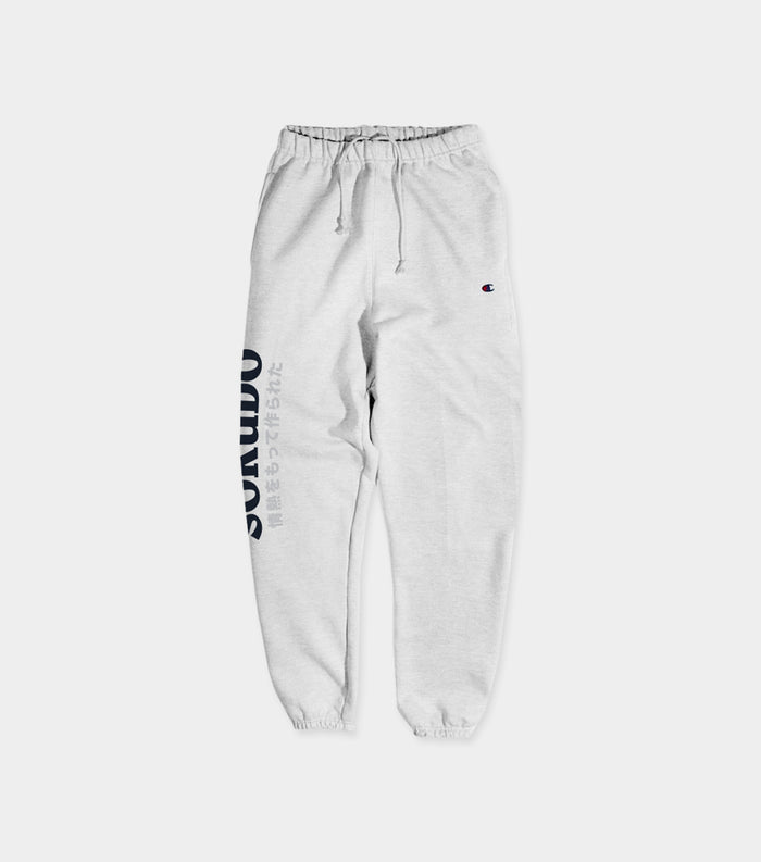 Japanese logo sweat pants (Silver Grey)