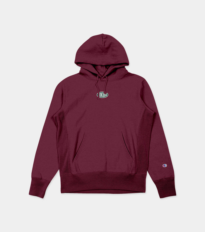 Sokudo Oval Hooded Sweater (Maroon)