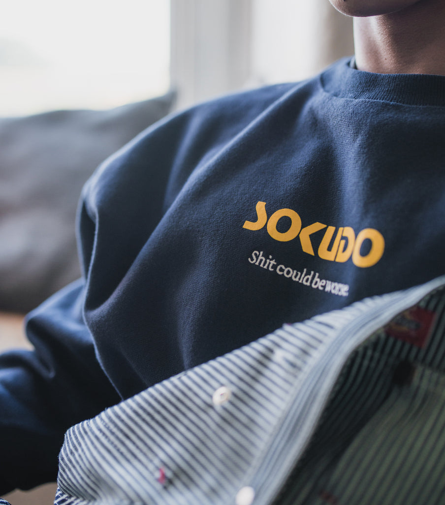 Sokudo SCBW crew neck sweater (Team Navy)