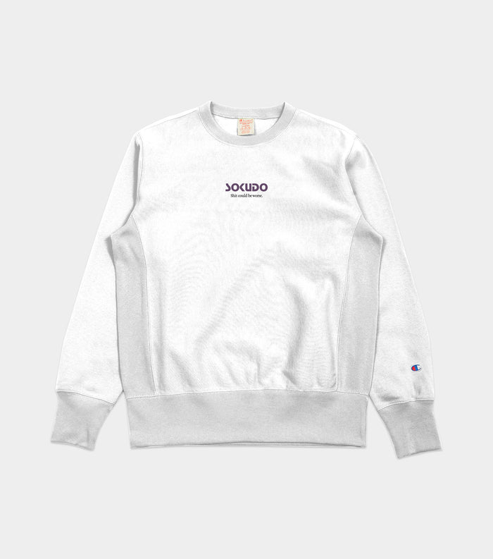 Sokudo SCBW crew neck sweater (Silver Grey)