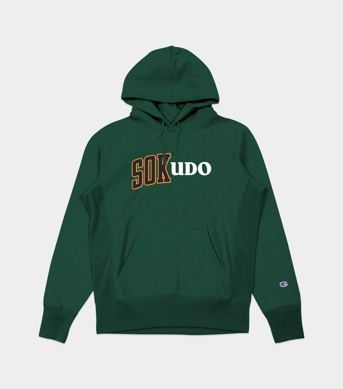 Sokudo Split hooded sweater (Dark Green)