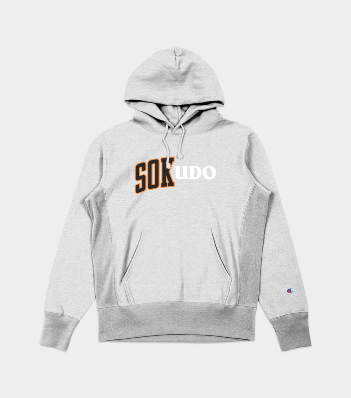 Sokudo Split hooded sweater (Oxford Grey)