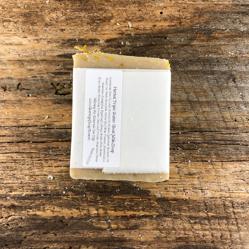 Herbal Infused Triple Butter Goat Milk Soap