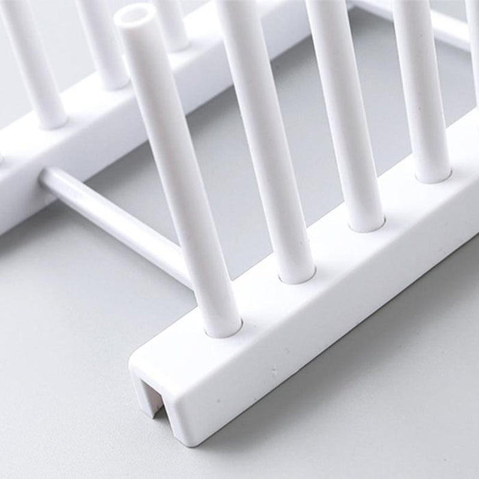 White Grey Plastic Dish Lid Holder