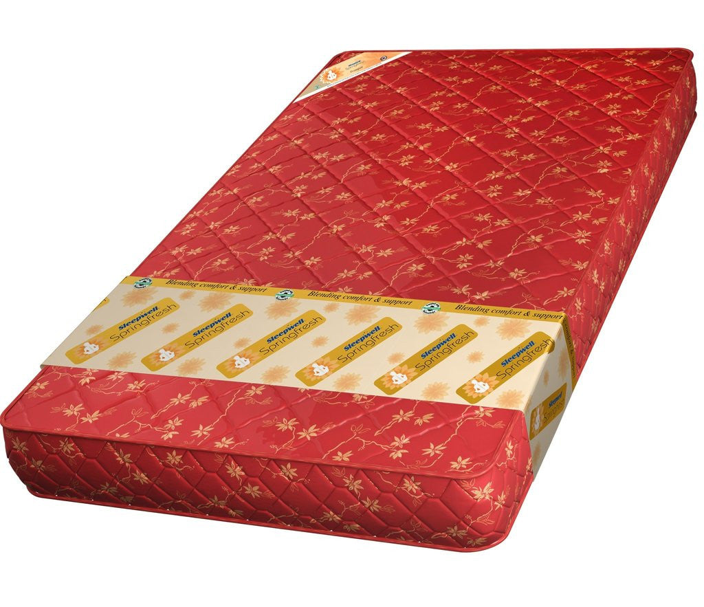 Buy Sleepwell Tranquil Pu Foam Spring Mattress Online In India Best Prices Free Shipping
