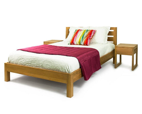 Solid Teak Wood Bed Base - Canary Wharf - 2